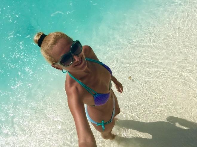 Gabriela Simion Sexy Selfie in Maldive