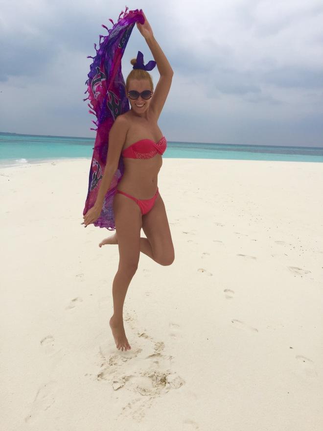 Gabriela Simion Poze Sexy in Maldive