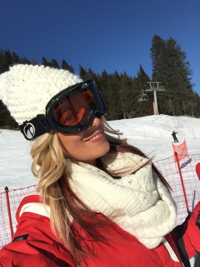 Gabriela Simion Vacanta de Iarna in Alpii Italieni