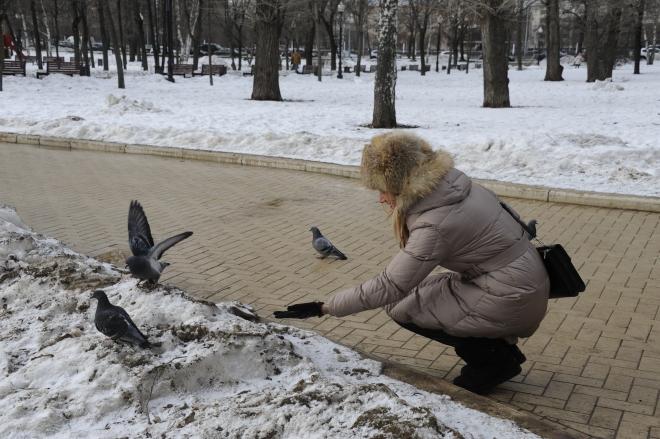 Gabriela Simion in Moscova Plimbare Prin Parc