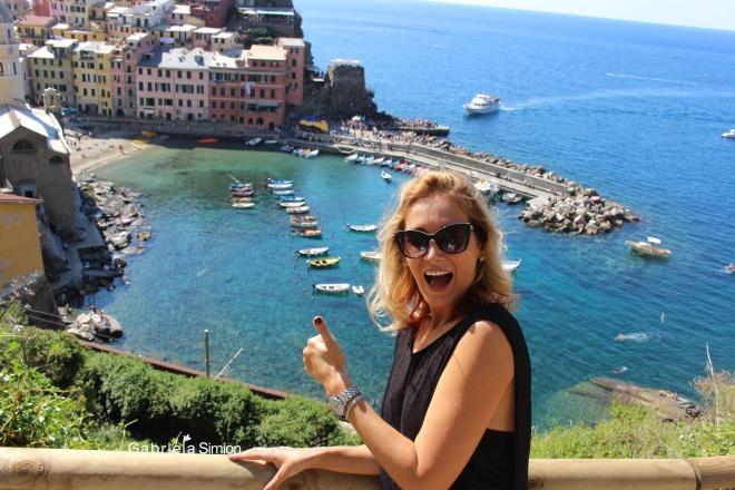 Vernazza Cinque Terre Italia cu Gabriela Simion