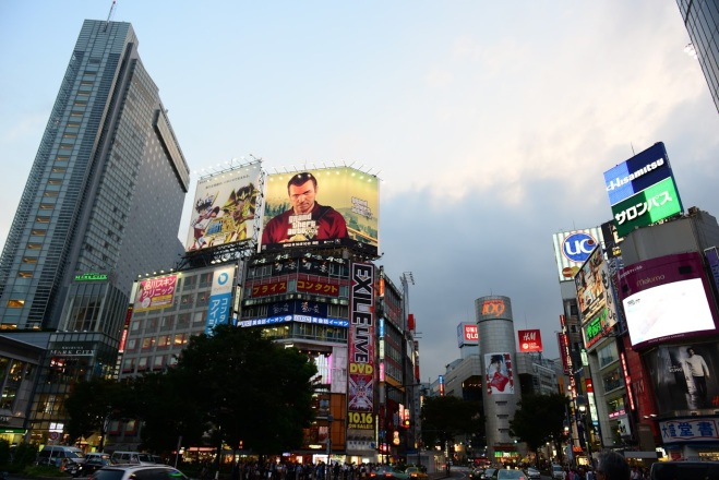 Reclame in Shibuya Tokyo