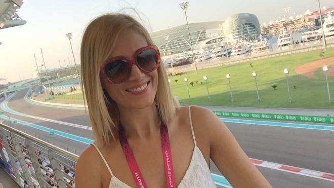 Sexy Gabriela Simion Abu Dhabi Grand Prix