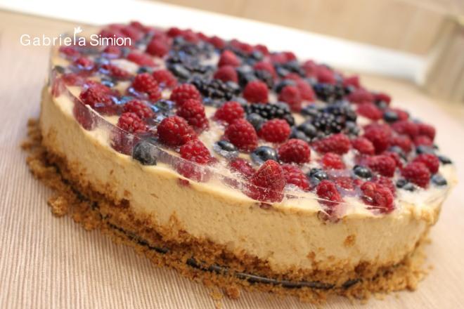 Tort De Tiramisu Cu Fructe de Padure Gabriela Simion Retete Usoare