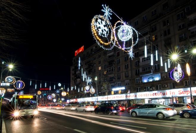 Piata Romana Luminitele de Craciun din Bucuresti