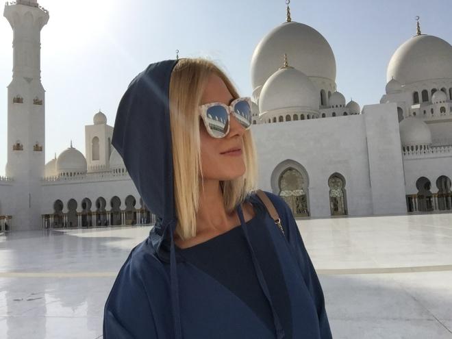 Poze Din Emirate Marea Moschee din Abu Dhabi Gabriela Simion