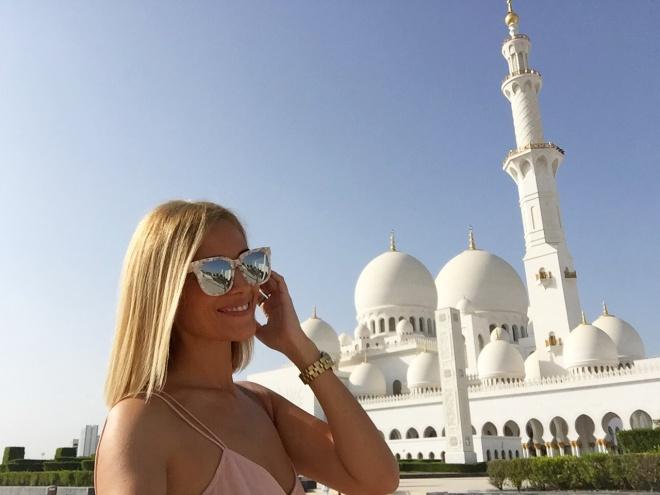 Vacanta Gabriela Simion Marea Moschee din Abu Dhabi