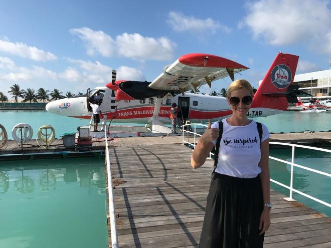 Gabriela Simion Vacanta in Maldive CU hidroplanul