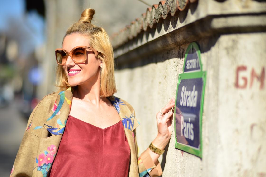 Gabriela Simion pe strada Paris