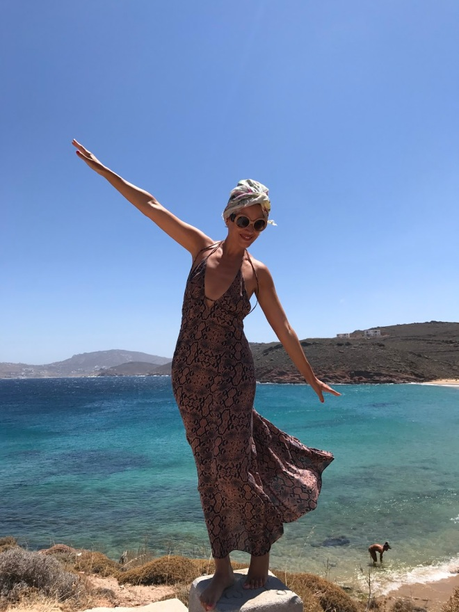 Imagini Gabriela Simion, Plaje Mykonos