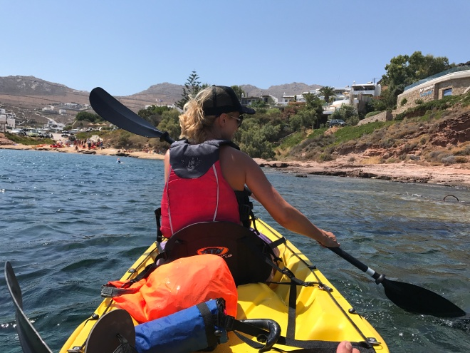 Mykonos Kayak Tours, Gabriela Simion in Action