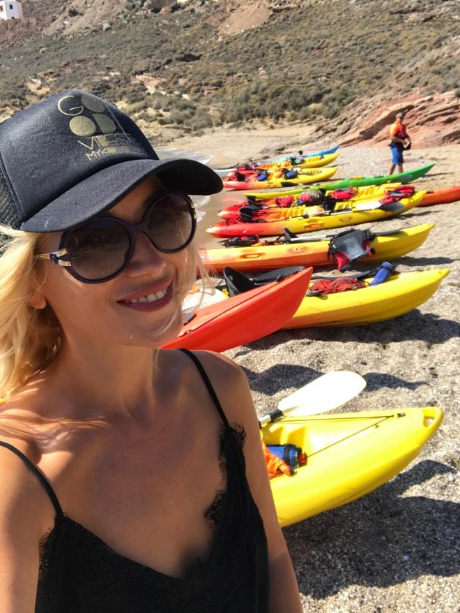 Mykonos Kayak Tours, Gabriela Simion Portret