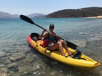 Mykonos Kayak Tours, Gabriela Simion Training